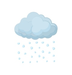 Cloud and hail icon cartoon style vector