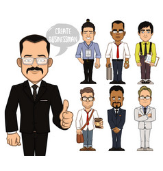 create businessman characters part 2 vector image