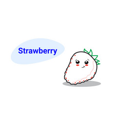 cute strawberry cartoon comic character vector image