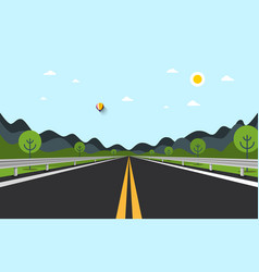 empty road with hills on background vector image