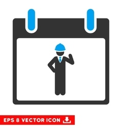 Engineer Calendar Day Eps Icon vector