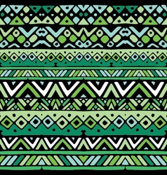 Ethnic mexican tribal green stripes seamless vector