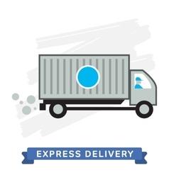 Express Delivery Symbols Van Delivery vector