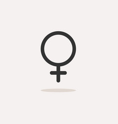 female symbol with shade on a beige background vector image