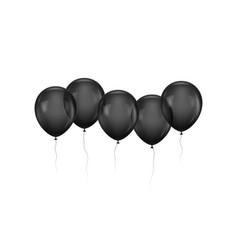 Five black gasbags in row vector
