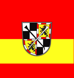 Flag of bayreuth in upper franconia in bavaria vector