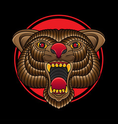 flash tattoo bear designs vector image
