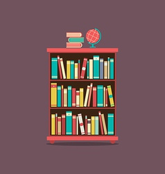 Flat Design Book Cabinet vector