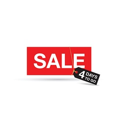 four days to go sale sign vector image