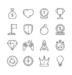 gamification icon business rules achievement for vector image