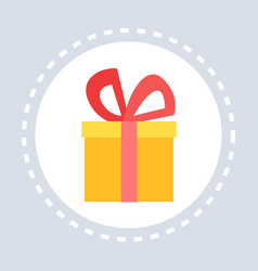 gift box present shopping icon concept flat vector image