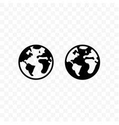 Globe icon earth travel website homepage or vector