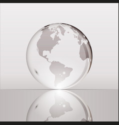 gray shining transparent earth globe vector image