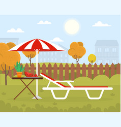 hammock in backyard of house vector image