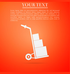 Hand truck and boxes icon isolated dolly symbol vector