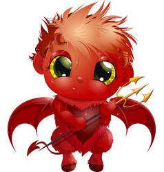 handsome little devil vector image