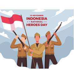 Happy indonesia national heroes day vector