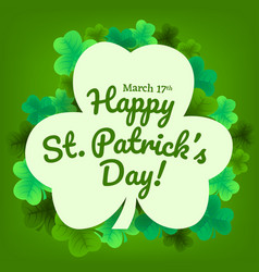 Happy st patricks day invitation wallpaper vector