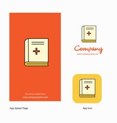 health book company logo app icon and splash page vector image