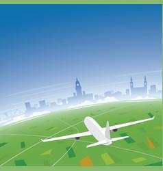 Leeds skyline flight destination vector