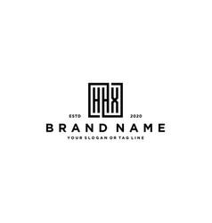Letter hhx square logo design vector