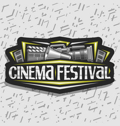 Logo for cinema festival vector