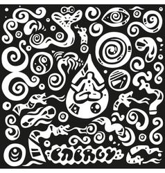 Meditationenergy - doodles set vector