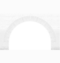 Old brick arch loft facade vector