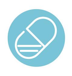 Pharmacy prescription treatment capsule medical vector