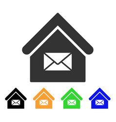 post office icon vector image
