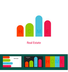 real estate agency investment logo concept vector image