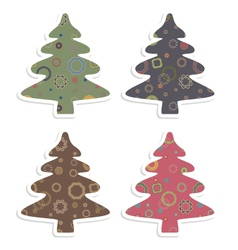 retro christmas tree vector image