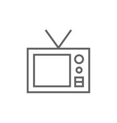Retro television line icon vector image vector image