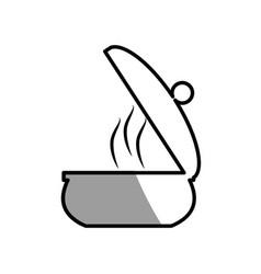 Saucepan pot cooking picnic shadow vector