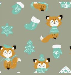 seamless pattern with hand drawn doodle chr vector image