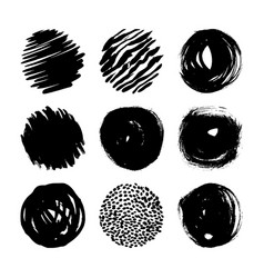 set grunge ink stains vector image