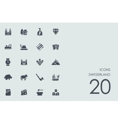Set of Switzerland icons vector image
