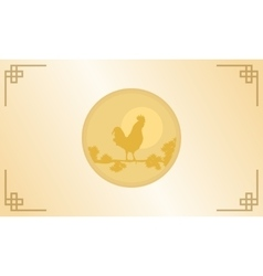 Silhouette of rooster for chinese new year vector