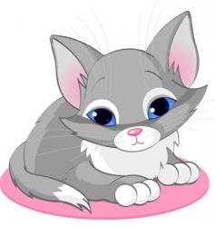 sitting kitten vector image