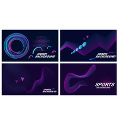 sports backgrounds in dark colors vector image