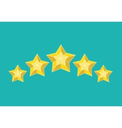 star pictograph vector image