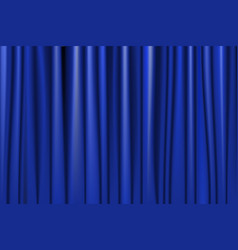 theater stage blue curtain vector image