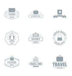 Travel fashion logo set simple style vector