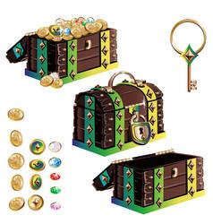 treasure chest set vector image