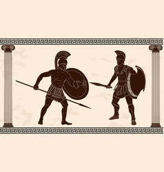 Two ancient warriors vector