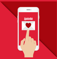 Valentine day mobile love it image vector