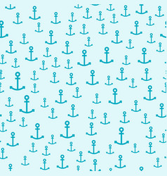 vintage marine anchor seamless pattern sign vector image