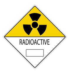 Warning signs radiation hazard vector