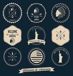 America Label Design vector image