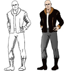 bad guy comics vector image vector image